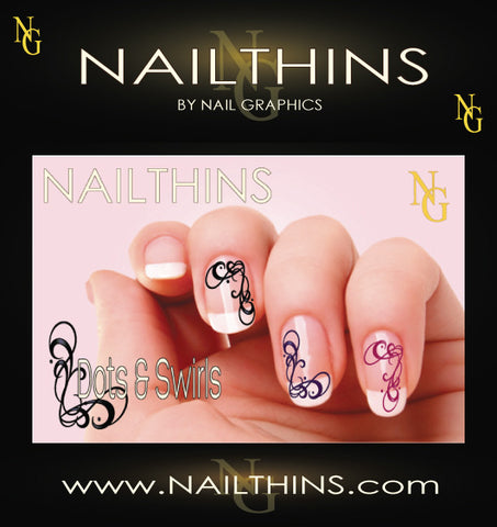 Swirl Nail Decal by NAILTHINS  Nail Art Designs