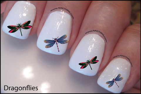 Dragonfly Nail Decal by Nailthins