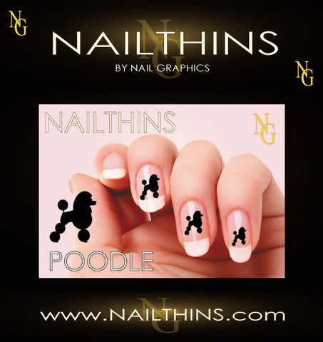 Standard Poodle NAILTHINS Silhouette Nail Decals