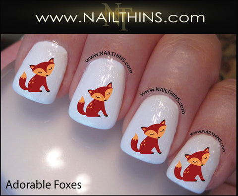 Fox Nail Decals Foxes nail designs Red Fox by NAILTHINS