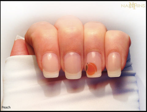 Peach Nail Decals, peachy nail designs by NAILTHINS