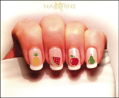 Fruit Nail Decal Pineapple, Watermelon and more Set #1 in Color By NAILTHINS