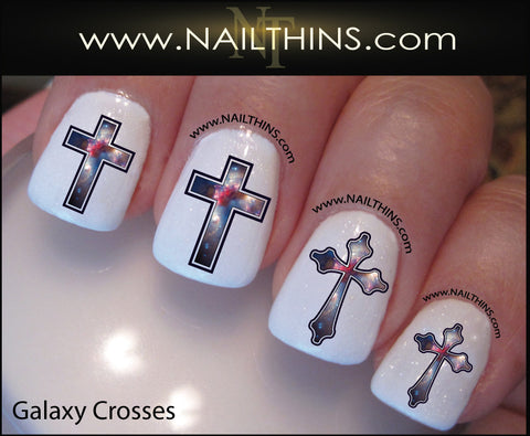 Galaxy Nail Decal Cross designs Star System NAILTHINS Nail Designs