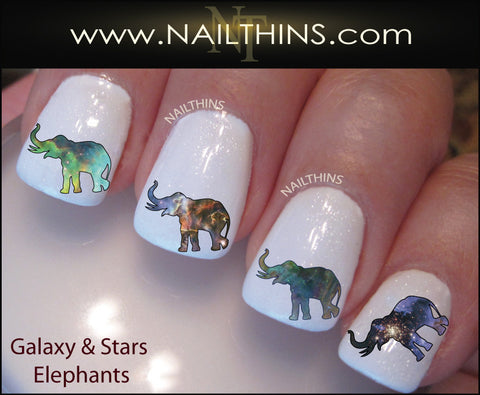 Galaxy Elephant Nail Decal by NAILTHINS