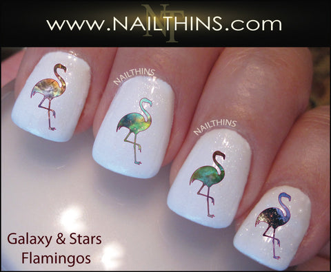 Galaxy Flamingo Nail Decal by NAILTHINS