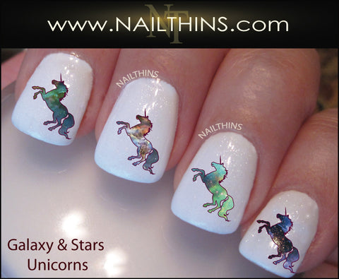 Galaxy Unicorn Nail Decal by NAILTHINS