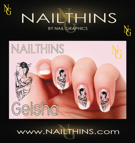 Geisha #1 NAILTHINS Nail Decal