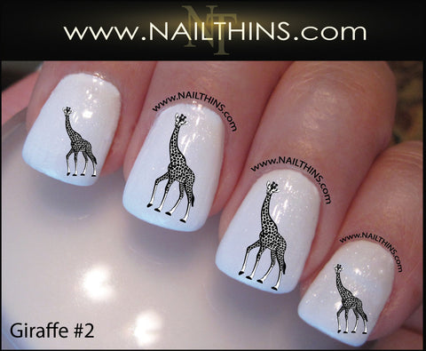 Giraffe Nail Decal Style #2 by NAILTHINS Giraffe nail art designs