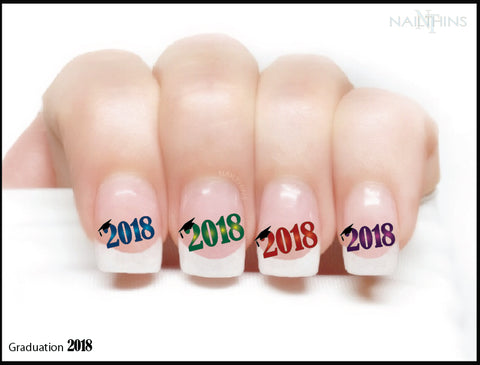 2018 Graduation Year Nail Decal  Graduate NAILTHINS Nail Art