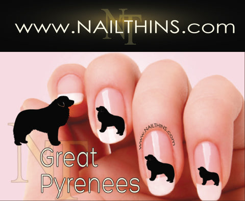 Great Pyrenees Nail Designs NAILTHINS Nail decal Nail Art Nail transfer