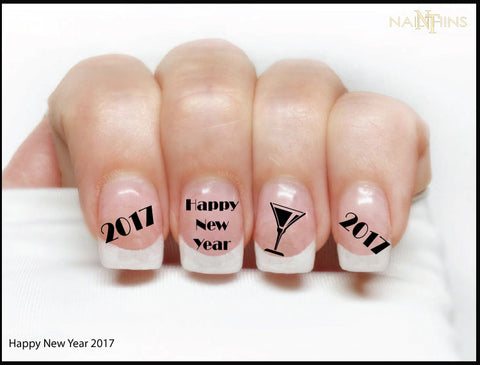 2017 New Year Nail Decal Designs by NAILTHINS