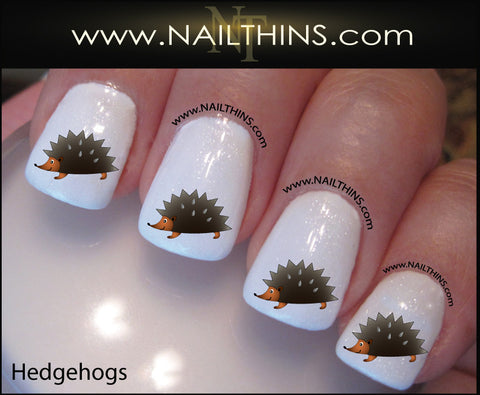 Hedgehog Nail Decals hedge hog nail designs by NAILTHINS