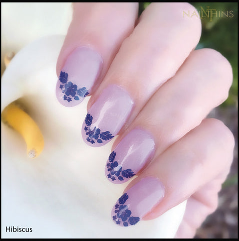 Hibiscus Nail Decals Hawaii Flower NAILTHINS Tropical Nail Designs