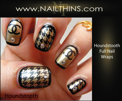 Hounds Tooth Nailthins Full Nail Wrap Nail Decal Nail Art