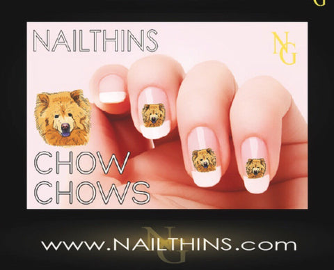 Chow Chow Nail Decal by NAILTHINS