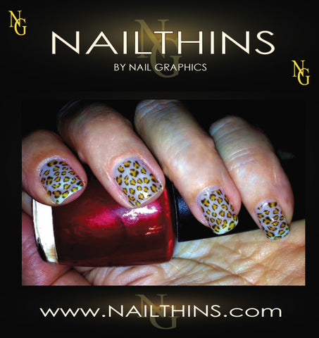 Leopard Print Nail Art Designs NAILTHINS  Full Nail Wrap Nail Decal