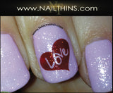 Rose Nail Decals #1 Classic Valentine Nail Art by NAILTHINS