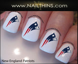 New England Patriots Nail Decal by NAILTHINS nail designs