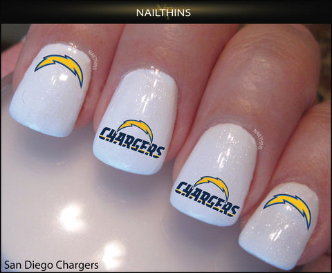 San Diego Chargers  Nail Decal by NAILTHINS