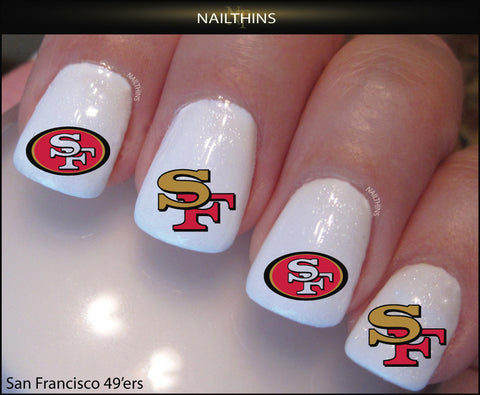San Francisco 49 ers'  Nail Decal by NAILTHINS