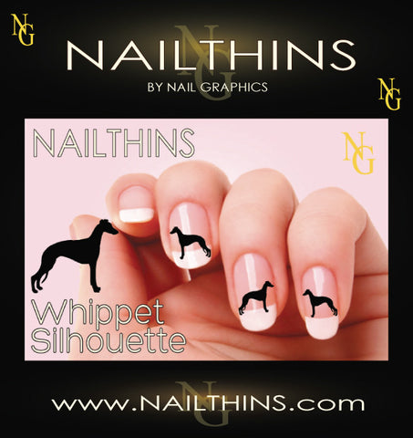 Whippet NAILTHINS Silhouette Nail Decal