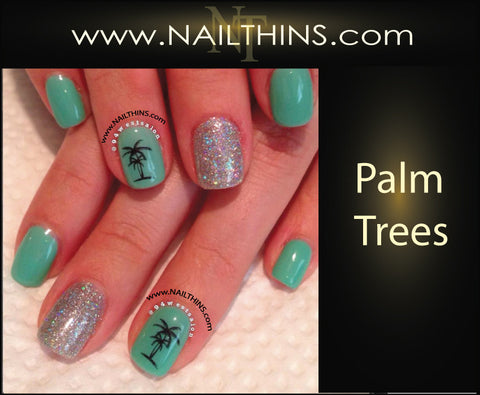 Palm Tree Nail Decals NAILTHINS Tropical Nail Designs