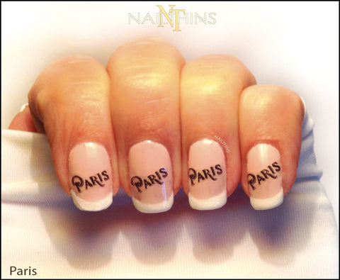 Paris Nail Decal by NAILTHINS Nail Art Designs