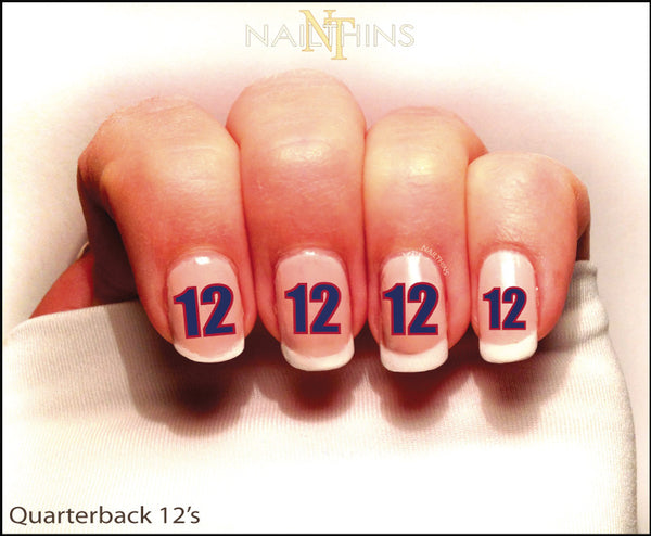 Seattle seahawks nail decal nailthins seahawks nail designs new england patriot number 12 nail decal by nailthins nail designs freerunsca
