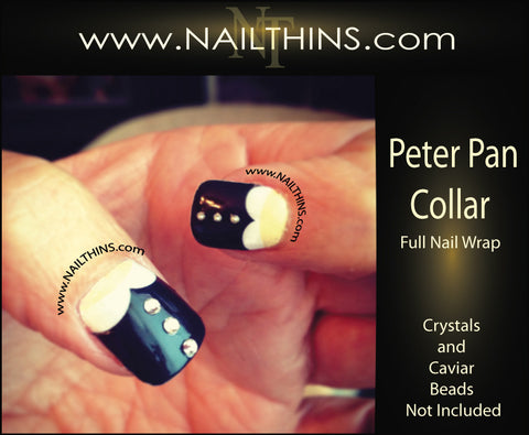 Peter Pan Collar Nail Decals Full Nail Wrap Nail designs NAILTHINS