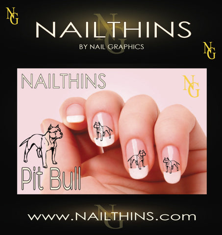 Pit Bull NAILTHINS Nail Decal
