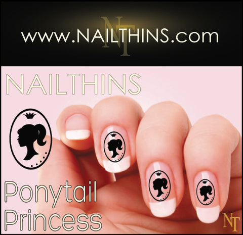 Princess Barbie Silhouette NAILTHINS Nail Decal Nail Art