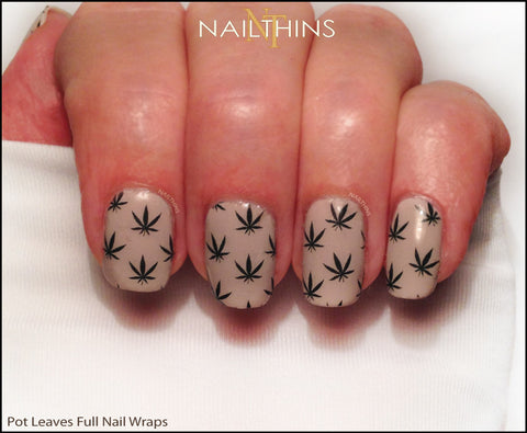 Weed Nail Decal Pot Cannabis Full Nail Wraps by NAILTHINS