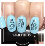 Princess NAILTHINS Nail Decal Set Nail Art Nail Designs