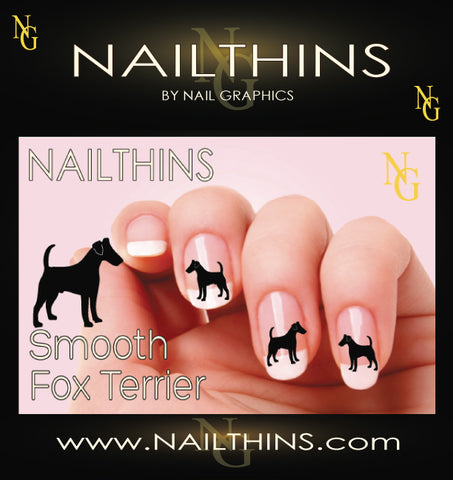 Smooth Fox Terrier NAILTHINS Silhouette Nail Decal