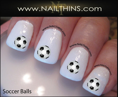 Soccer Ball Nail Decal NAILTHINS Soccer-ball designs