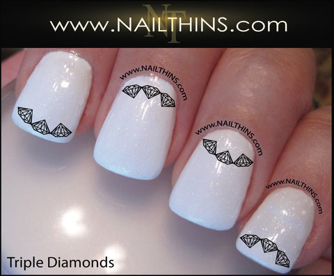 Triple Diamond Nail Decal Nail Designs by NAILTHINS