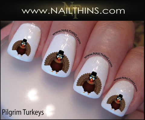 Thanksgiving Turkey Nail Decal Nail Art by NAILTHINS