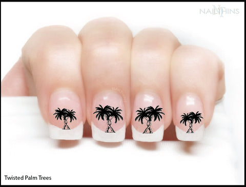 Entwined, Twisted Palm Trees Nail Decals by NAILTHINS
