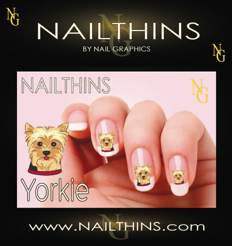 Yorkie Face NAILTHINS Nail Decal