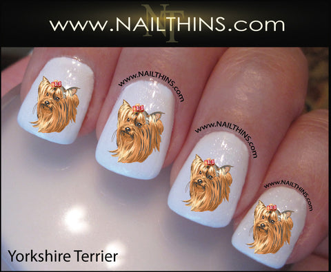 Yorkshire Terrier NAILTHINS Dog Nail Decal