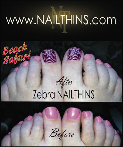 Zebra Nail Decal Zebra NAILTHINS  Full Nail Wrap Nail Designs