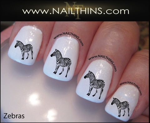 Zebra Nail Decal  by NAILTHINS Zebras nail art designs