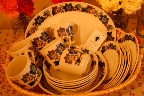 1970's 21 piece dish set- would be perfect for a newlywed gift!