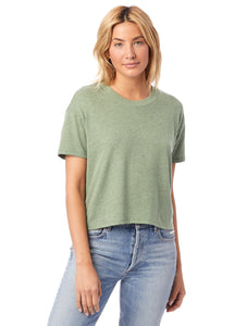 Loose Crop in Pine by Alternative Apparel