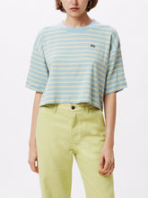 Load image into Gallery viewer, Blue 90's Stripe Boxy Crop Top