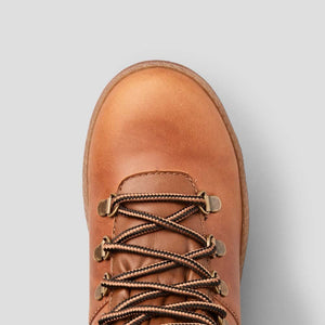 Cougar Leather Lace-Up Boot in Butternut