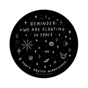Floating in Space Sticker