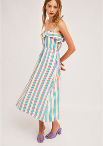 Candy Striped Strap Dress