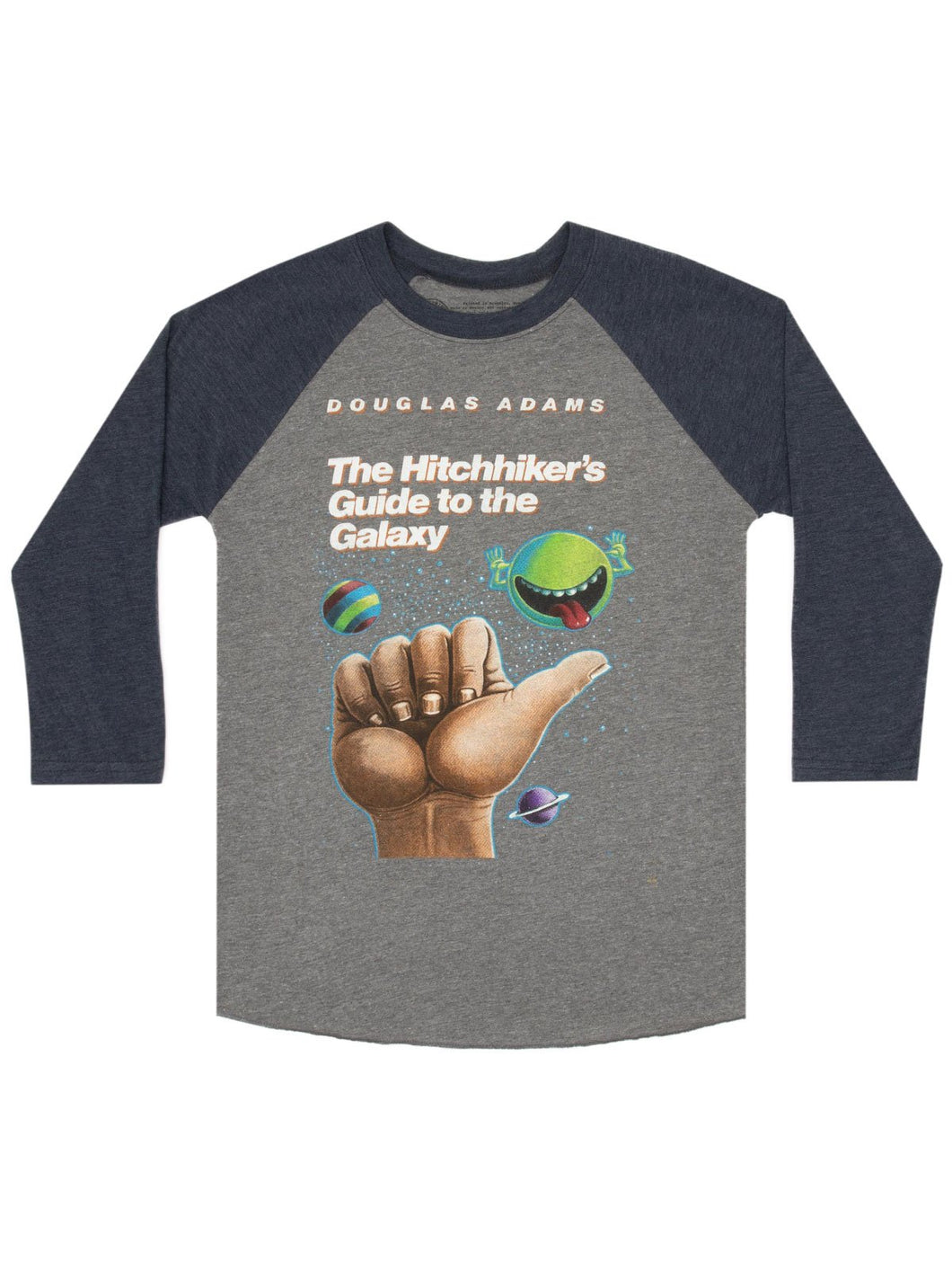 The Hitchhikers Guide to the Galaxy 3/4 Sleeve Raglan Tee (Unisex)