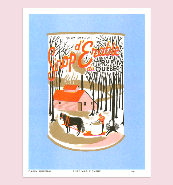 Maple Syrup Print